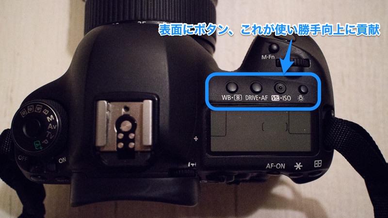 EOS 5D mak4 表面のボタン