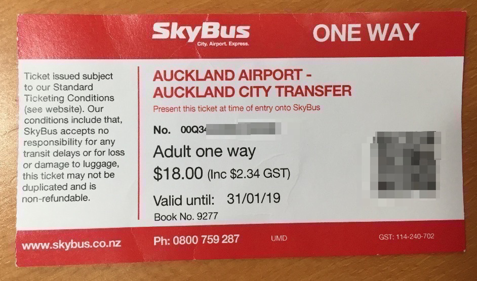 Sky Bus Ticket