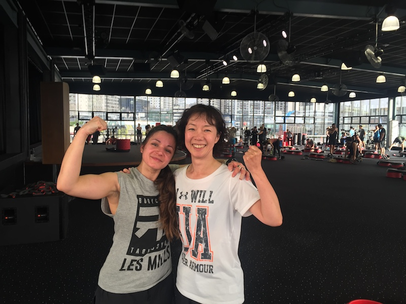 with Body Combat instrauctor Less Mills Aucklandcity