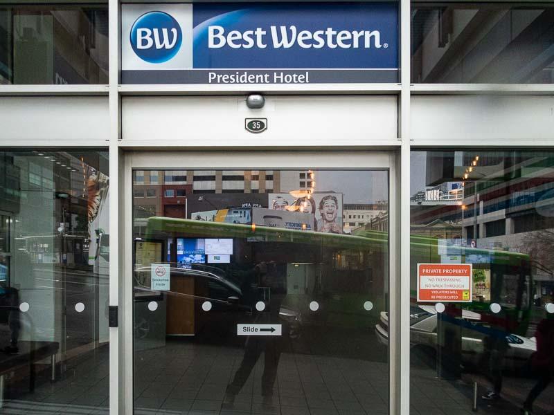 オークランドシティでのおすすめ宿泊先Best Western President Hotel