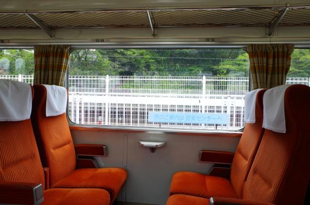 狭い電車車両内