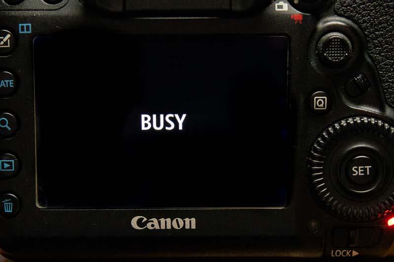 5D mark4 busy