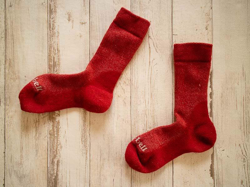 モンベル 赤靴下