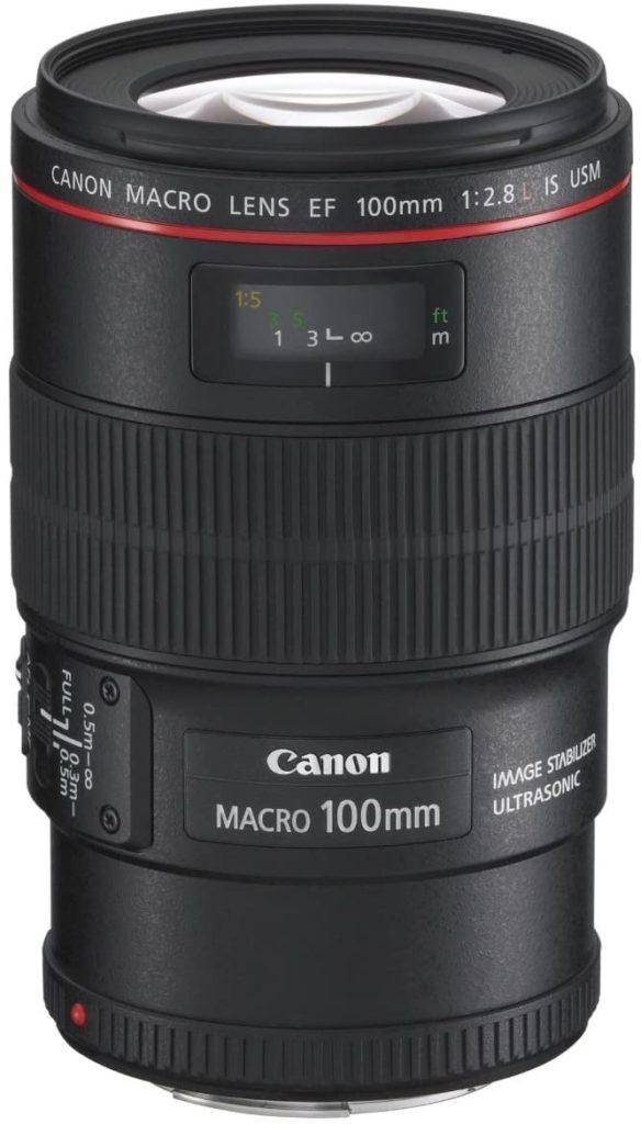 Canon 単焦点マクロレンズ EF100mm F2.8L マクロ IS USM 出典:Amazon