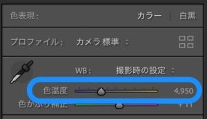Lightroom 色温度