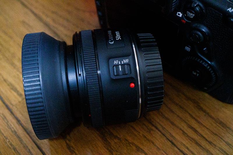EF 50mm F1.8 STMレンズ
